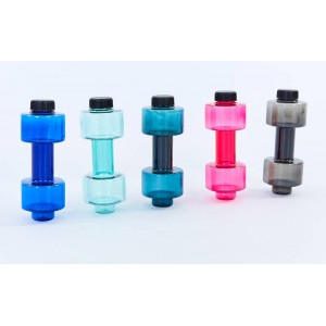 Бутылка для воды спортивная Гантель 760 мл (цвета в ассортименте)
