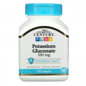 21 century Potassium Gluconate 595 mg 110 tablets