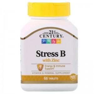 21 century Stress B with Zinc 66 tablets