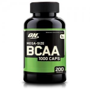 Optimum Nutrition Mega size bcaa 100 mg 200 капсул