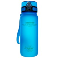 UZspace Бутылка для воды 3037 650 мл (голубая)