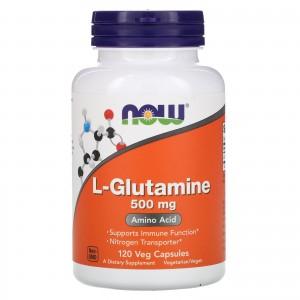 NOW Glutamine 500 mg 120 capsules