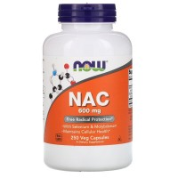 NOW Nac acetyl cysteine 600mg 100 caps