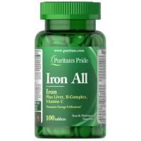 Puritan's Pride Iron All 100 таблеток
