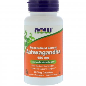NOW Ashwagandha 450mg 90 капсул