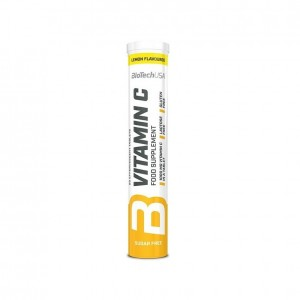 Biotech Usa Vitamin C шипучие таблетки (20 tabs lemon)