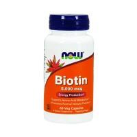 NOW Biotin 5000 mcg (60 caps)