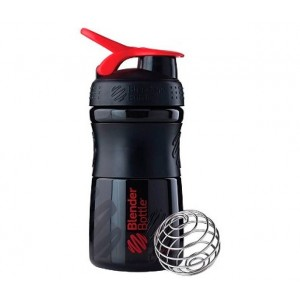 Шейкер BlenderBottle SportMixer с шариком 590 мл Black red