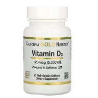 California Gold Nutrition Vitamin D3 5000 IU 90 caps