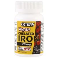DEVA Vegan chelated Iron 29 mg 90tablets