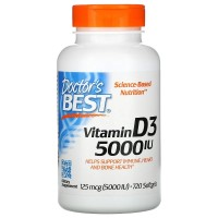 Doctor Best Vitamin D3 5000 mcg 720 softgels
