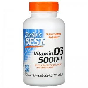 Doctor Best Vitamin D3 5000 mcg 720 softgels