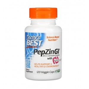 Doctor Best PepZin GI комплекс Zinc L-карнозина 120 растительных капсул
