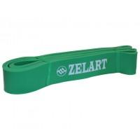 Лента для подтягиваний резина силовая эспандер размер 2080x45x4,5мм жесткость L зеленый