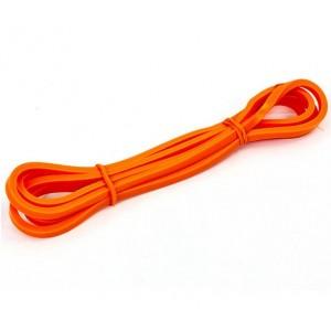 Резина для подтягиваний лента силовая эспандер размер 2000x6,4x4,5мм жесткость ХХXS оранжевый