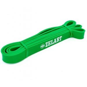 Резина для подтягиваний лента силовая размер 2000x24x4,5мм жесткость XS зеленый 5-32 кг