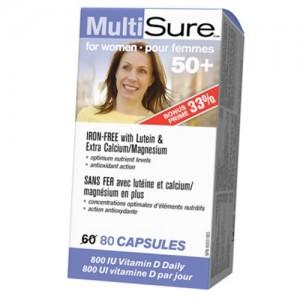 Webber Naturals Multisure for women 50+ 80 caps