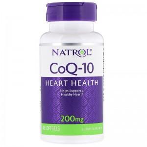 Natrol Q10 200mg 45 гелевых капсул