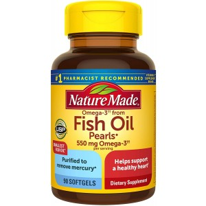 Natures Made fish oil 550 mg 90 softgels