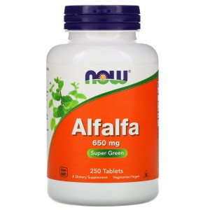 NOW Alfalfa 650 mg 250 tablets