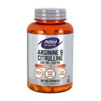 NOW Arginine 500mg Citrulline 250mg 120 caps