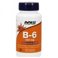 Now Foods Vitamin B-6 100mg 100 caps