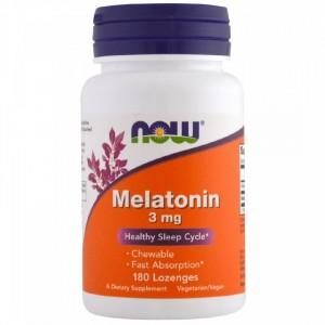 NOW Melatonin 3 mg 180 lozonges