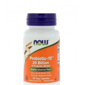 Now Probiotic-10 25 Billion (50 Veg Capsules)