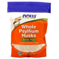 NOW Psyllium Husk Порошок шелухи подорожника 454 г (16 унций)