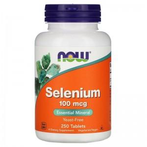 NOW Selenium 100mcg 250 tablets