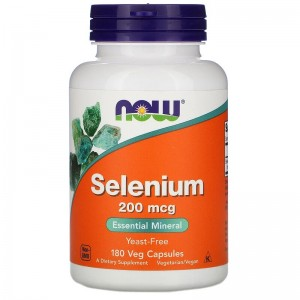 NOW Selenium 200mcg 180 капсул