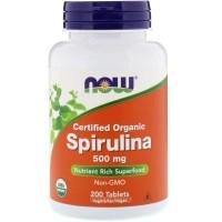 Now Foods Spirulina 500 mg (100-180-200 таблеток)