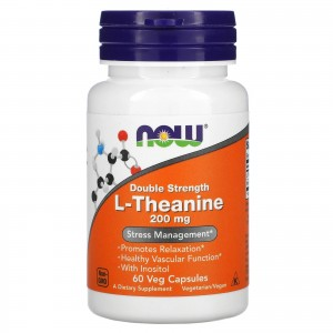 NOW L-Theanine 200 mg 60 caps