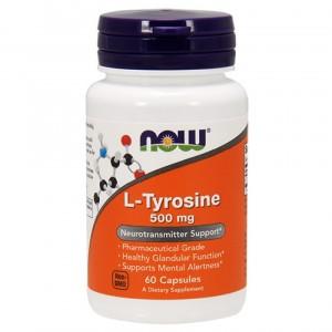 Now Foods L Tyrosine 500 мг Extra Strength (60 veg caps)