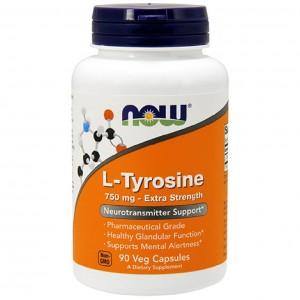 Now Foods L Tyrosine 750 мг Extra Strength (90 veg caps)