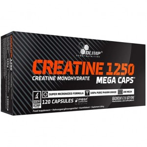Olimp creatine 1250mg 120 mega caps (60 порций)