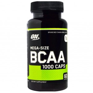Optimum Nutrition Mega size bcaa 1000mg 60 капсул