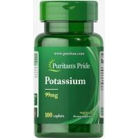 Puritan's Pride Potassium 99mg 100 tablets