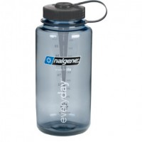 Бутылка для воды Nalgene (2178-X02X) Wide Mouth 1L Gray/Black