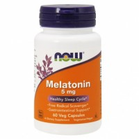 NOW Melatonin 5mg 60 капсул