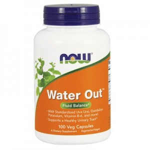NOW Foods WATER OUT (100 CAPS) мощный диуретик