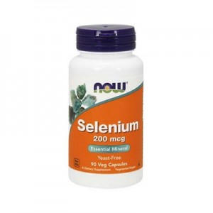 NOW Selenium 200mcg 90 капсул