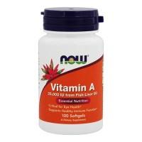 NOW Vitamin A 25000 IU 100 softgels