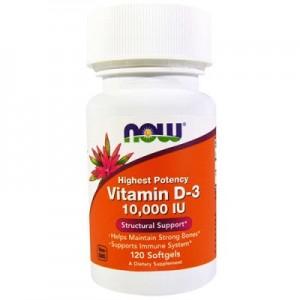 Now vitamin D-3 10 000 IU (120 softgels)