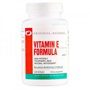 Universal Nutrition vitamin E formula 100 softgels