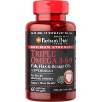 Puritan's Pride Triple Omega 3-6-9 Maximum Strength (60 капс.)