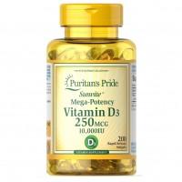 Puritans Pride Vitamin D3 10000 IU (250 mcg) 100 softgels