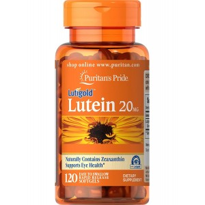 Puritan's Pride Lutein 20mg with Zeaxanthin 120 Softgels
