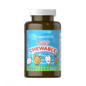 Puritans Pride Childrens Multivitamin 100 tablets (детские витамины)