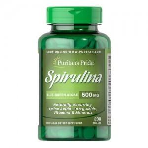 Puritans Pride Spirulina 500 mg (200 таблеток)